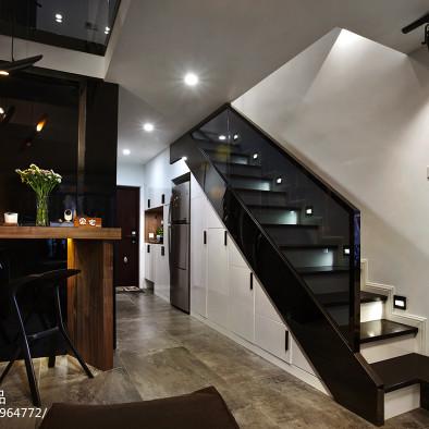 酒店式公寓炫酷黑白灰设计---同进理想城_2511892