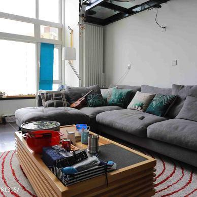 休闲loft风格客厅效果图