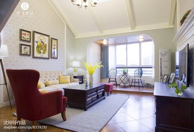 优雅美式客厅设计案例