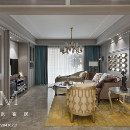 时尚大气新古典风格客厅装修