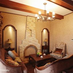 复古地中海风格客厅设计案例