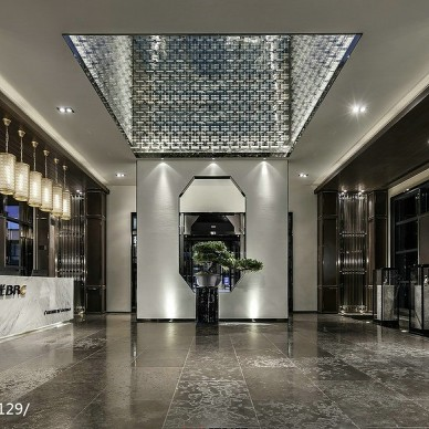 蓝光雍景阁销售中心大堂设计