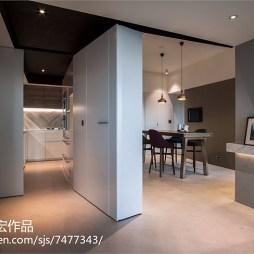 家居现代风格隔断墙设计