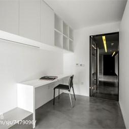白色现代风格书房设计