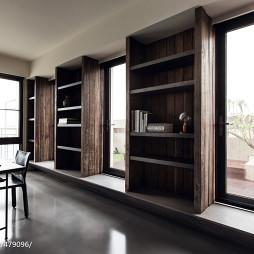 现代风格二居室书架设计