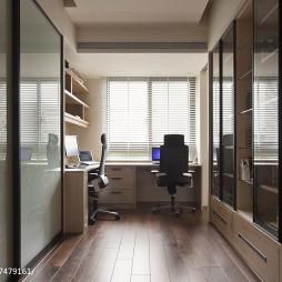 现代风格简单书房设计
