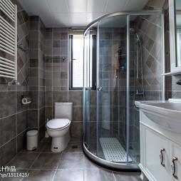 时尚美式白色卫浴设计