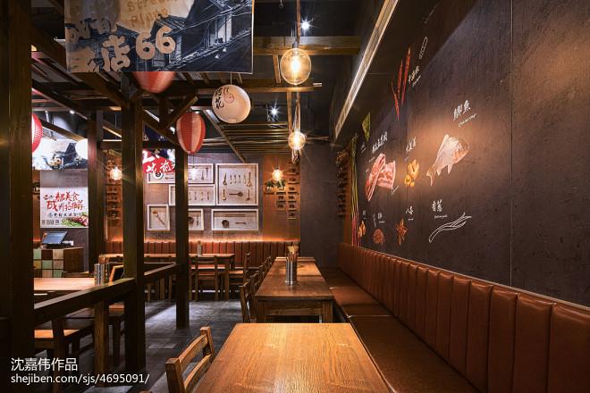 宜宾大板烤五花餐厅就餐区设计