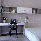 现代风格白色书房设计