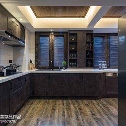 混搭风格原木厨房装修