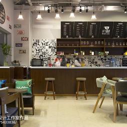 小鸟咖啡店吧台设计