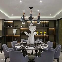 混搭风格别墅餐厅装修案例