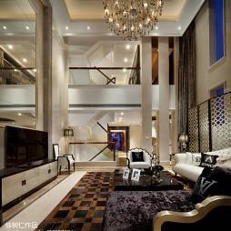 简欧风格别墅客厅设计效果图