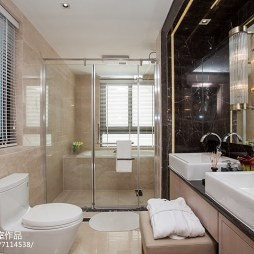 家居现代风格样板房卫浴装修