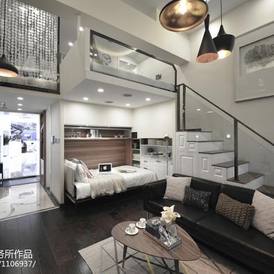 现代复式公寓客厅装修