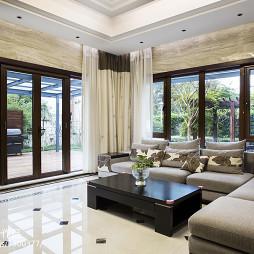现代中式别墅客厅装修