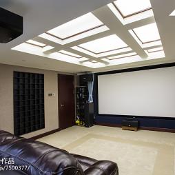 现代中式别墅视听室效果图