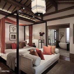 中式风格别墅卧室设计案例