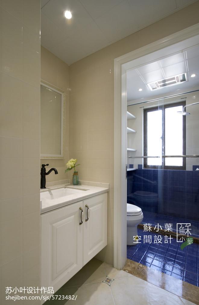 简洁美式卫浴装修图片
