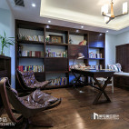 中式风格木质书房设计