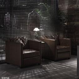 巴鲁特男装店休息区设计