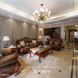 复古美式别墅客厅装修