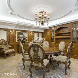 精致美式别墅餐厅设计