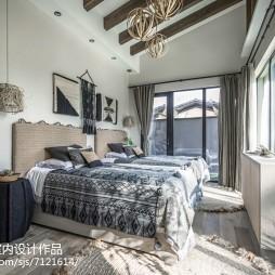家居混搭风格样板房卧室设计