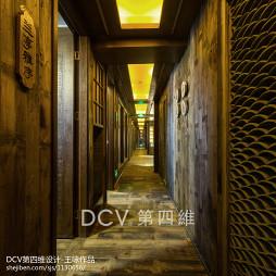 新中式主题餐厅过道设计