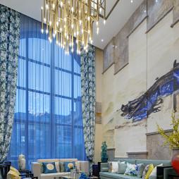 豪华中式风格别墅客厅设计