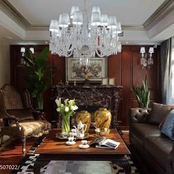 古典美式客厅设计