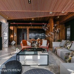 别致中式风格客厅设计效果图