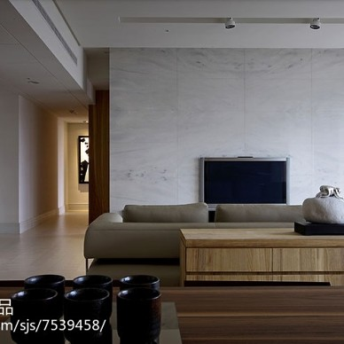 极简现代风格背景墙效果图