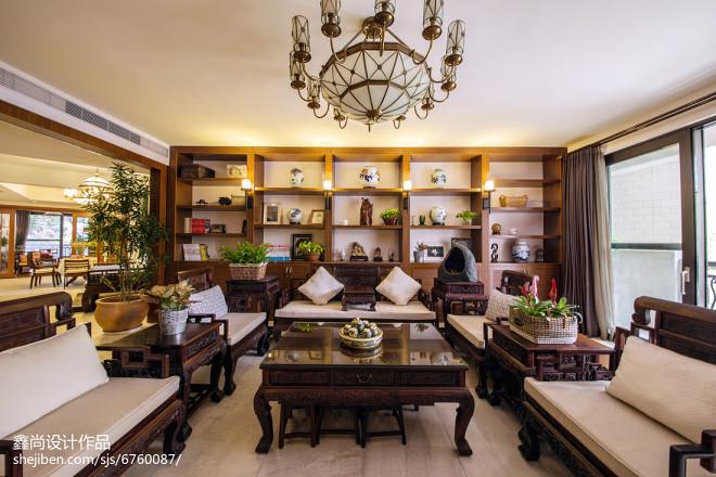 书香中式风格客厅装修