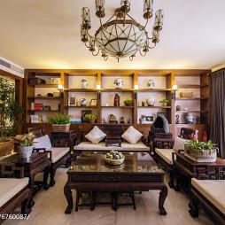 書香中式風格客廳裝修