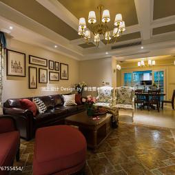 美式风格客厅装修案例图