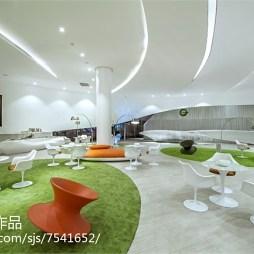 清新售楼中心洽谈区设计