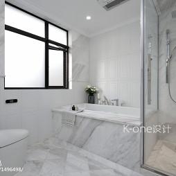 美式白色卫浴设计