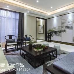 中式风格客厅展示空间效果图