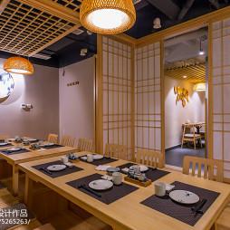 日式料理店就餐区设计