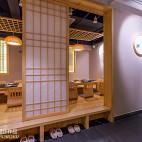 日式料理店推拉门设计