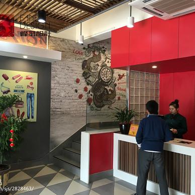 香恋柠萌餐厅收银台设计