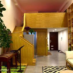 LOFT风格原木楼梯设计
