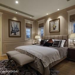 质感美式别墅卧室布置