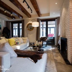 混搭风格复式客厅效果图