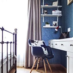 美式风格卧室小书房设计