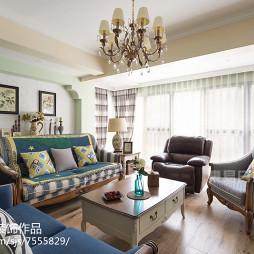 美式风格四居室客厅布置