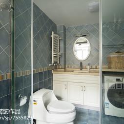 美式风格蓝色卫浴设计