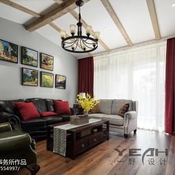 复古美式客厅布置