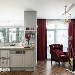 美式风格开放式厨房装饰图